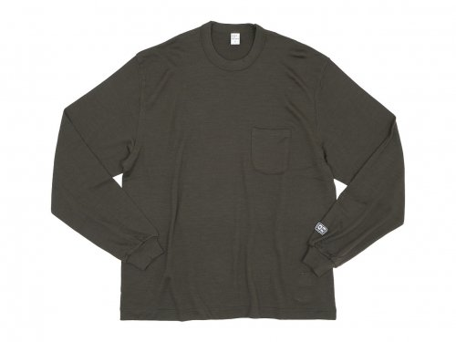 ENDS and MEANS Pocket L/S tee KHAKI OLIVE