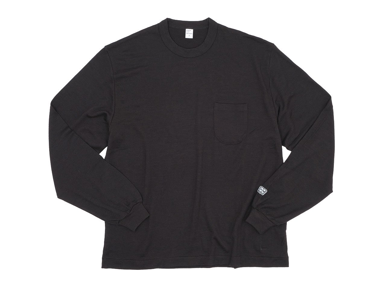 ENDS and MEANS Pocket L/S tee DARK BROWN