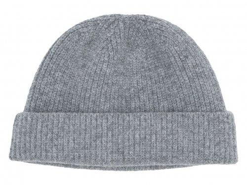 RINEN 2/24ウールアゼ編みニット帽 03グレー杢