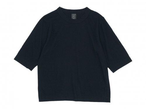 homspun 30/1天竺 六分袖Tシャツ ブラック