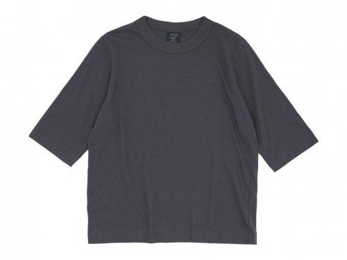 homspun 30/1天竺 六分袖Tシャツ グレー