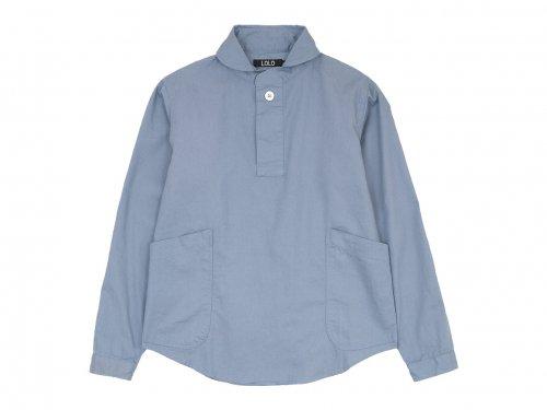 LOLO コットンプルオーバーシャツ BLUE GRAY