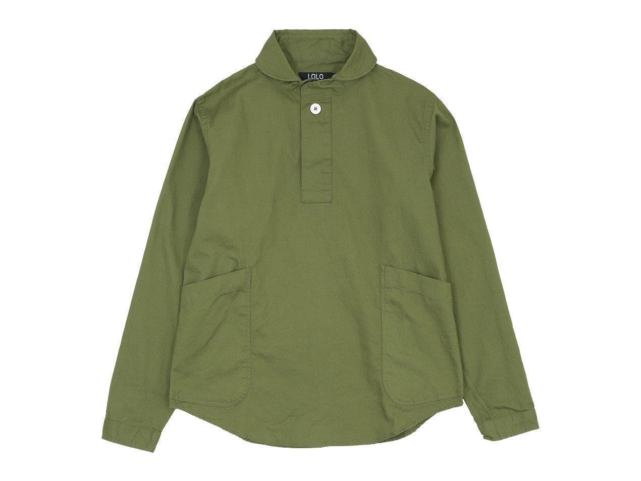 LOLO コットンプルオーバーシャツ OLIVE