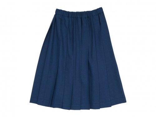 Charpentier de Vaisseau Belle プリーツスカート Wool DARK BLUE