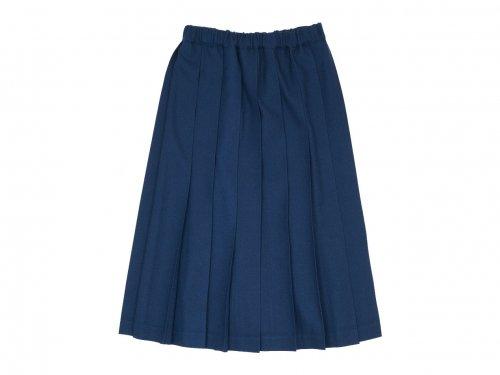 Charpentier de Vaisseau Brisa プリーツスカート Long Wool DARK BLUE