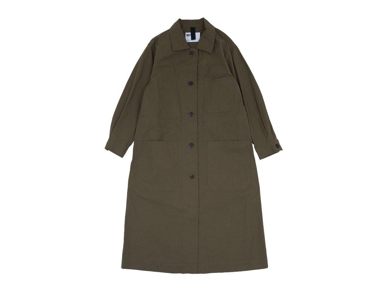 MHL. OVERDYE MELANGE COTTON DRESS 50BROWN 〔レディース〕