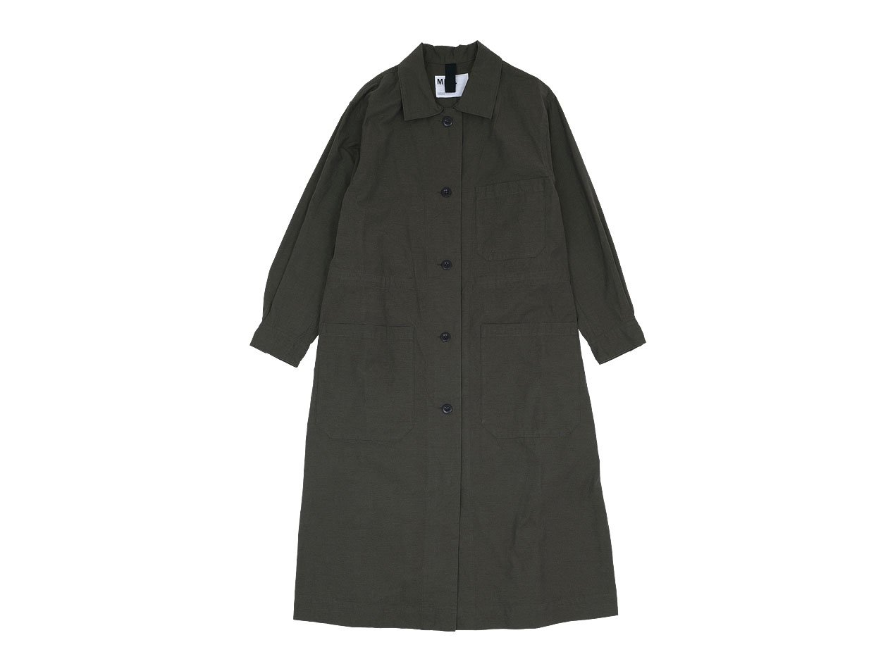 MHL. OVERDYE MELANGE COTTON DRESS 143DARK GREEN 〔レディース〕