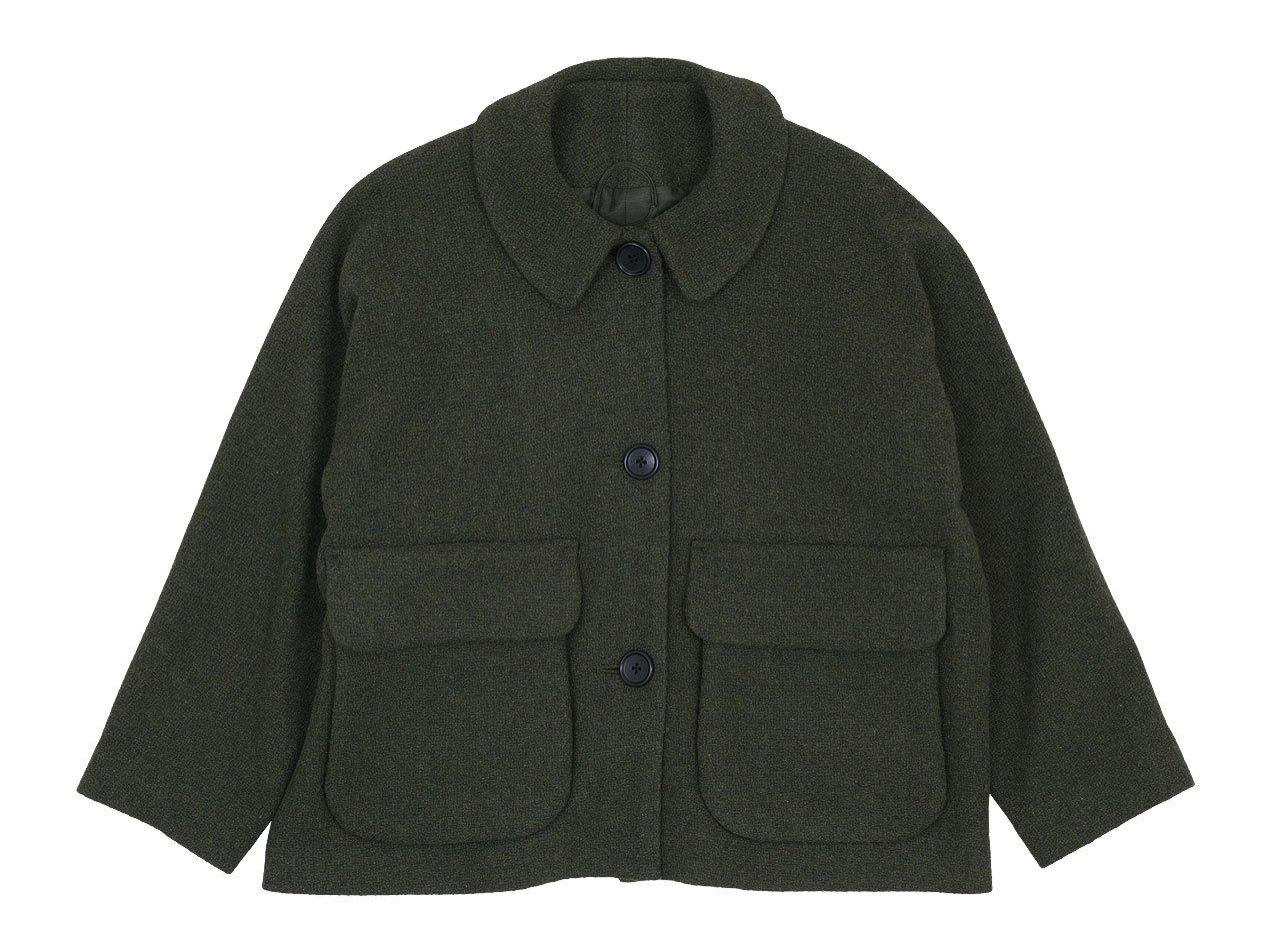 Atelier d'antan Clouet(クルーエ) Round Collar Wool Jacket OLIVE