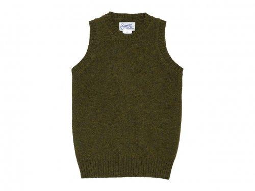 Charpentier de Vaisseau Kurson Wool Knit Vest KHAKI