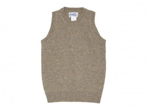 Charpentier de Vaisseau Kurson Wool Knit Vest  LIGHT BROWN