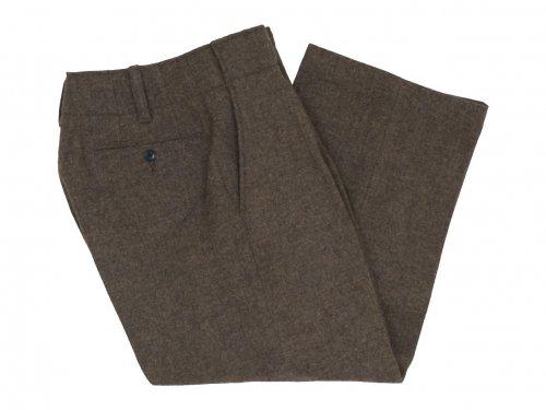 Charpentier de Vaisseau Brent Tweed Tuck Pants LIGHT BROWN