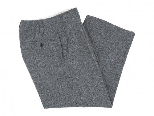Charpentier de Vaisseau Brent Tweed Tuck Pants GRAY