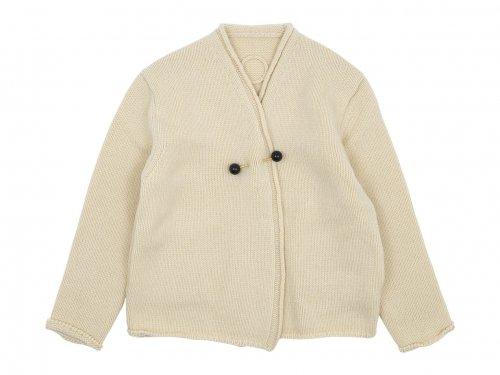 Atelier d'antan Degas(ドガ) Wool Knit Cardigan NATURAL