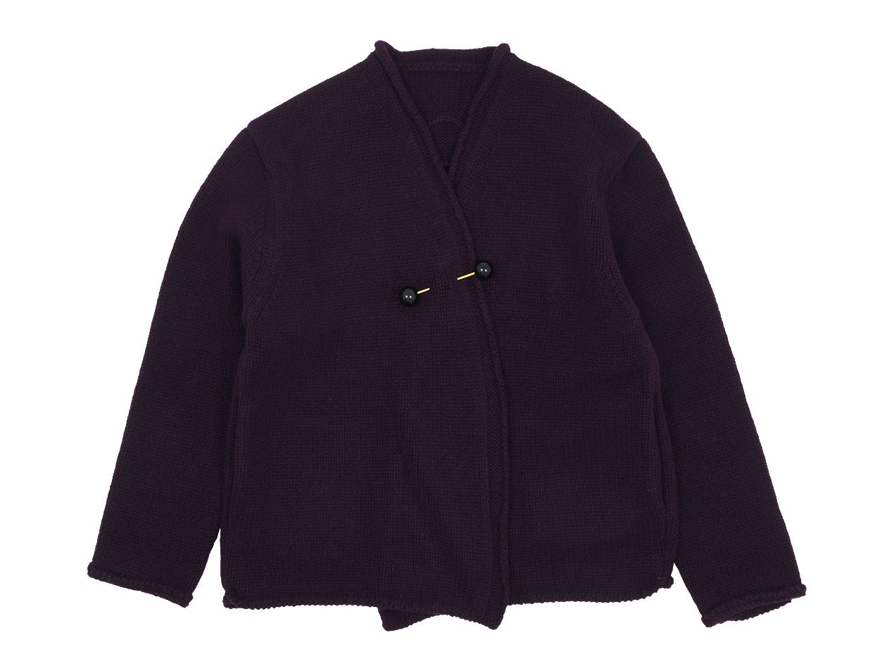 Atelier d'antan Degas(ドガ) Wool Knit Cardigan WINE
