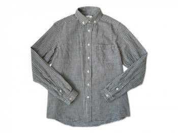 maillot Sunset B.D. gingham check shirts BLACK x WHITE