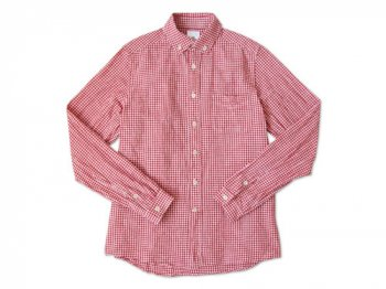 maillot Sunset B.D. gingham check shirts RED x WHITE