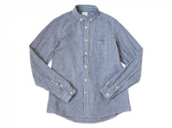 maillot Sunset B.D. gingham check shirts BLUE x PURPLE