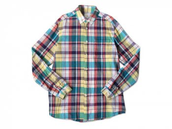 maillot madras check B.D. shirts BLUE MADRAS