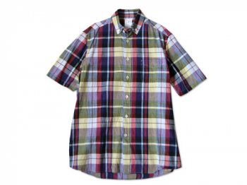 maillot Sunset madras check B.D. s/s shirts PURPLE MADRAS
