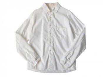 ordinary fits コットンシャーリングシャツ WHITE