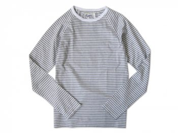 Charpentier de Vaisseau STRIPES LONG SLEEVES CUTSEW GRAY x WHITE