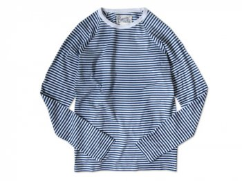 Charpentier de Vaisseau STRIPES LONG SLEEVES CUTSEW BLUE x WHITE