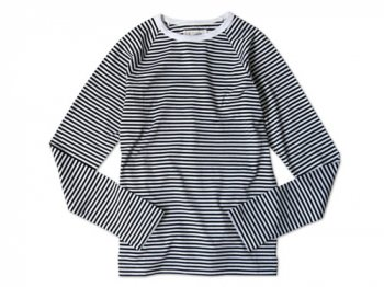 Charpentier de Vaisseau STRIPES LONG SLEEVES CUTSEW BLACK x WHITE