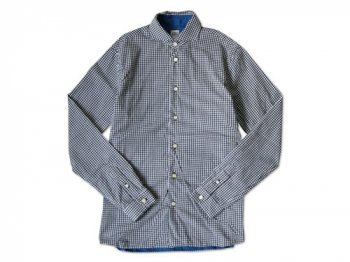 EEL ビートルシャツ 19BLACK GINGHAM x BLUE