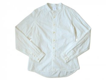 maillot band collar shirts WHITE