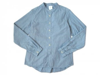 maillot band collar shirts BLUE
