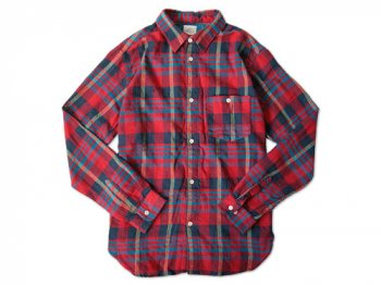 dip COTTON FLANNEL CHECK SHIRTS RED