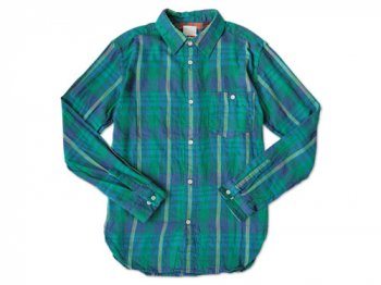 dip COTTON FLANNEL CHECK SHIRTS BLUE