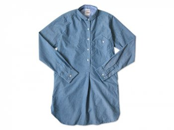 dip ITALIAN NAVY CHAMBRAY SHIRTS ONEPIECE