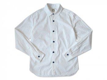 EEL 陶器釦のシャツ WHITE