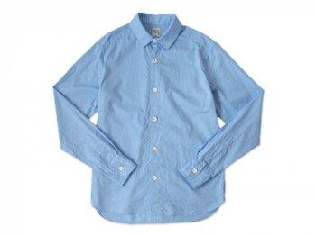 EEL 陶器釦のシャツ SAX