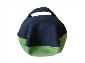 カンダミサコ circle bag mini 1:NAVY x LIGHT GREEN