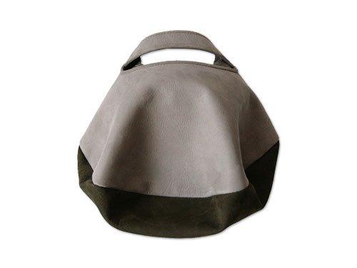 カンダミサコ circle bag mini 4:LIGHT GRAY x OLIVE