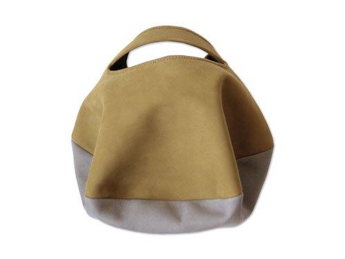 カンダミサコ circle bag mini 6:MUSTARD x LIGHT GRAY