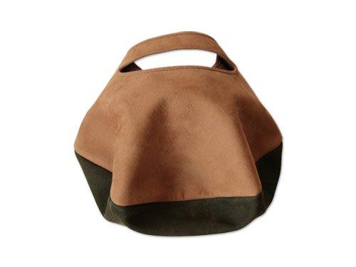カンダミサコ circle bag mini 9:BROWN x OLIVE