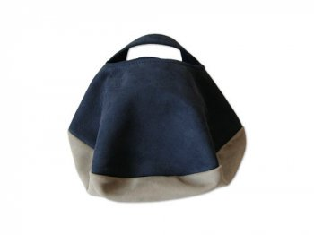 カンダミサコ circle bag mini 11:NAVY x LIGHT GRAY