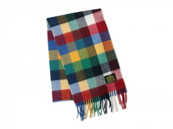 GLEN PRINCE CHECK MUFFLER RED CHECK