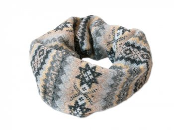 NOR' EASTERLY NECK TUBE FAIRISLE MEDIUM GRAY
