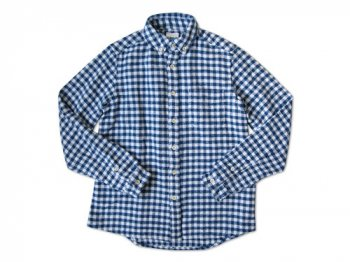 maillot Cotton flannel gingham B.D. shirts BLUE x OFF