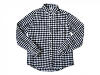 maillot Cotton flannel gingham B.D. shirts BLACK x OFF