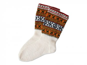 TINES WOOL SOCKS RED LINE