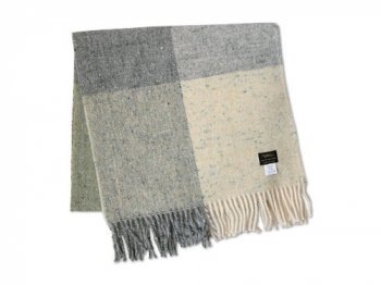 Studio Donegal TWEED MUFFLER LIGHT GRAY 3A