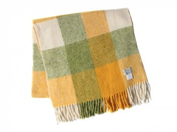 Studio Donegal TWEED MUFFLER GREEN x YELLOW x WHITE 7