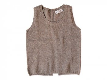 NOR' EASTERLY BACK OPEN VEST OYSTER