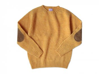 BRICK CREW NECK KNIT パッチ付き CROCUS