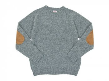BRICK CREW NECK KNIT パッチ付き MEDIUM GRAY
